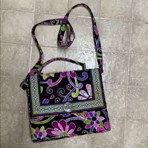 NWOT Vera Bradley purple hand bag removable strap